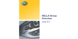 HELLA Group at a glance