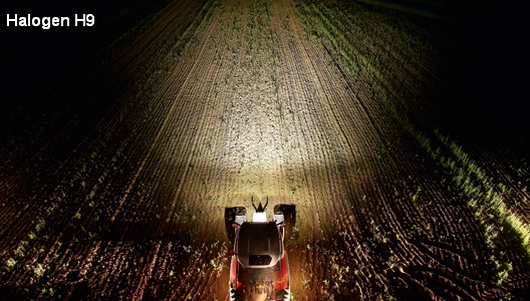More safety for work in the field with halogen headlamps.