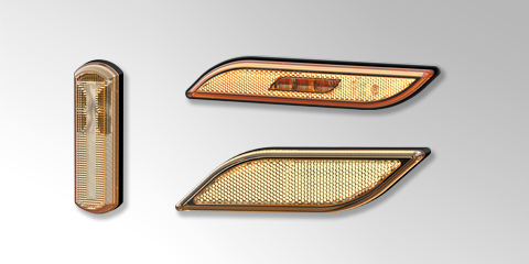 The design for rear combination lamps - Shapeline lamps for buses, from HELLA.