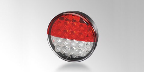 High-power LED rear combination lamp Ø 122 mm, with precision optics, round, by HELLA