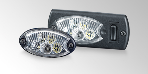 Shatter-proof Mini OvalLED interior lamp from HELLA