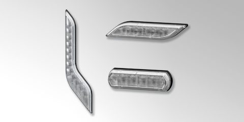 Front lights for motorhomes that can be individually designed with Shapeline, from HELLA.