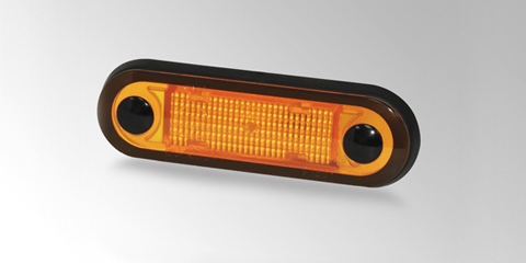 LED side marker light with state-of-the-art night design, amber, from HELLA.