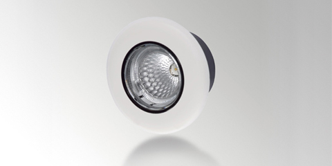 Interior LED spotlight with clear lens, white, from HELLA.