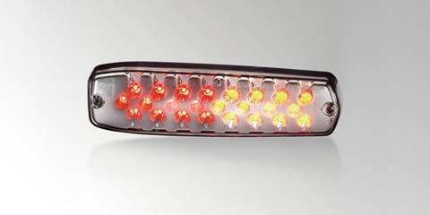 LeanLED low-profile LED combination rear lamp with taillight, brake light and direction indicator, from HELLA.