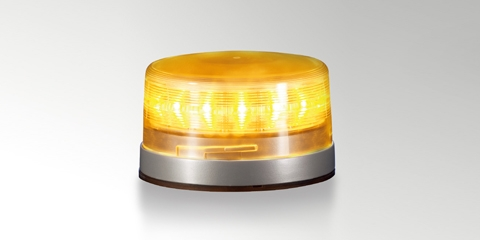 HELLA K-LED FO rotating beacon with Fresnel lens, amber
