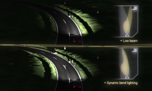 Adaptive Frontlighting System Dynamic bend light