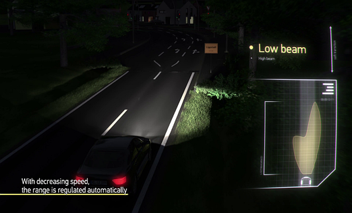 Adaptive Cut-off line Low Beam