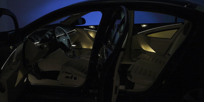 Ambient interior lighting, warm white (Innovation Car)