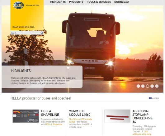 Buses & Coaches microsite