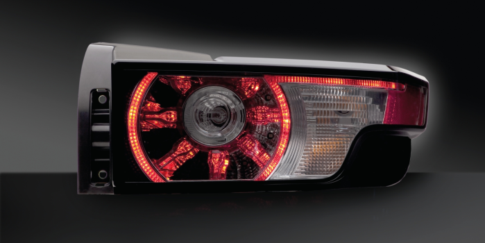 Combination rear lamp with LED functions, Land-Rover