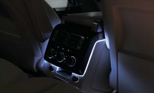 RGB-LED Ambient Lighting center console, Land Rover