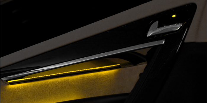 Light guide with door trim (Citroen C4 Picasso)
