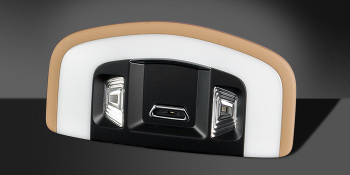 Interior reading lamp with incident light in LED technology (Porsche Panamera)