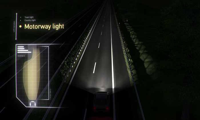 Adaptive Frontlighting System Motorway Light HELLA
