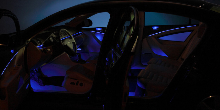 Ambient interior lighting, blue (Innovation Car)