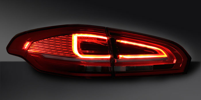 Combination rear lamp with LED functions, Ford S-Max