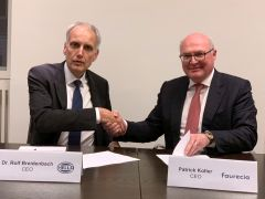 Strategic collaboration with Faurecia