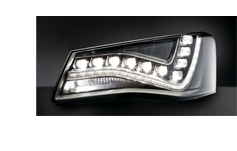First full LED headlamp with AFS functions for the Audi A8
