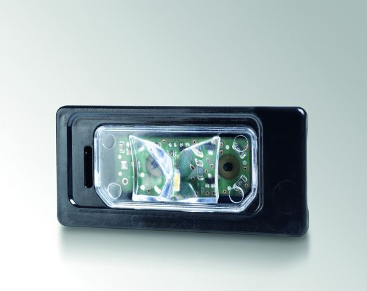 License plate lamp with LED technology Jaguar