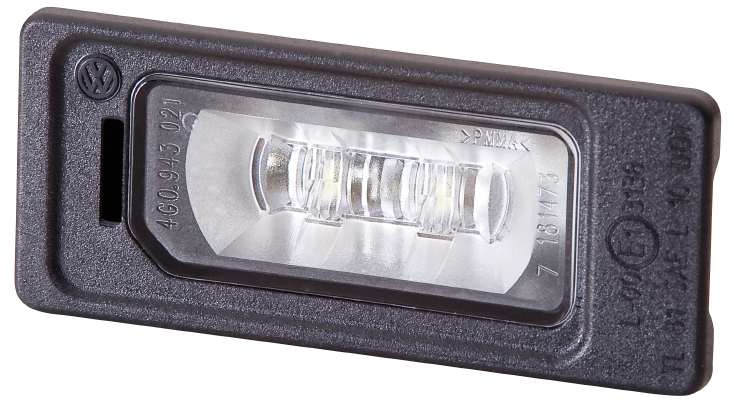 License plate lamp with LED technology, VW
