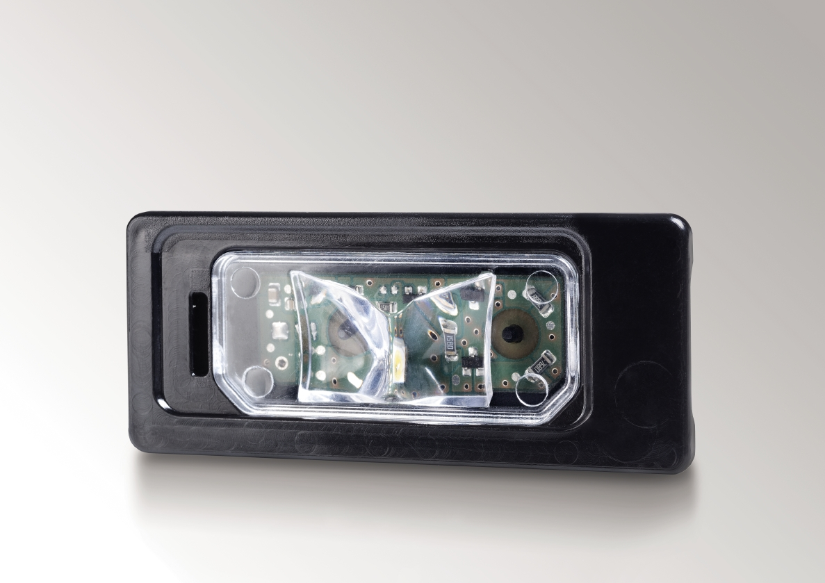 License plate lamp with LED technology, Jaguar