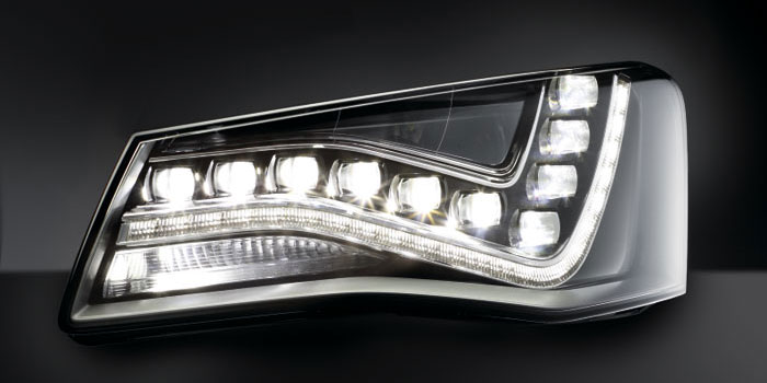 Full LED headlamps with AFS functions, Audi A8