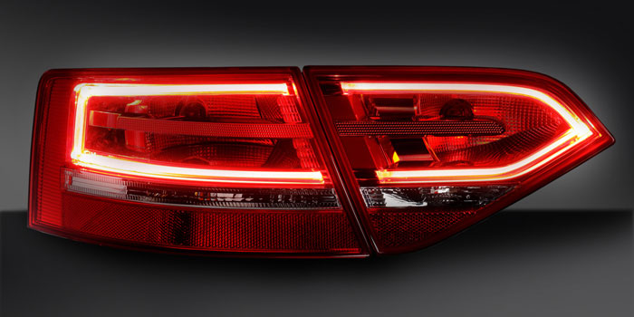 Combination rear lamp with LED functions, Audi A3 convertible