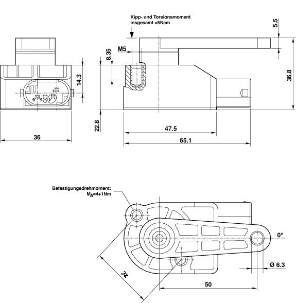 HELLA Rotation Angle Sensor Drawing