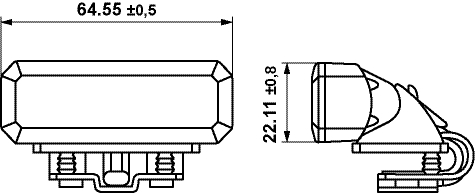 HELLA BST (3 LED) bracket mounting drawing
