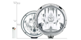 Size comparison of the Rallye headlamps.