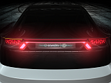 The rear lighting is equipped with holographic technology.