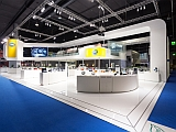 The exhibition stand of HELLA at the Automechanika 2014.