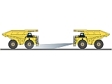 The ZEROGLARE optics ensure light vehicle operators are not blinded by oncoming Haul Trucks lighting systems