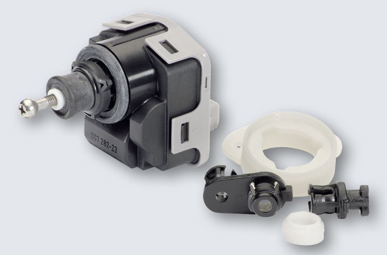 Headlamp levelling actuator for manual and automatic headlamp leveling systems