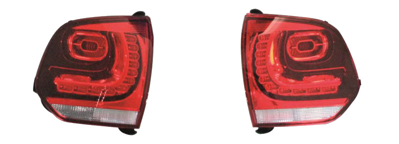 Encoding the Golf 6 rear LED lights: Parts for installation