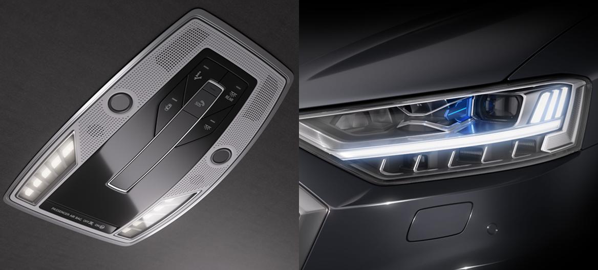 OLED, Matrix LED high beam and light animations: The