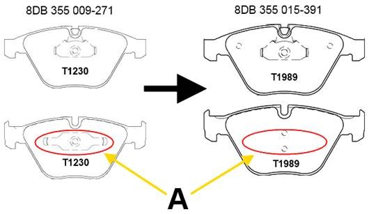 disc brake Front Axle HELLA PAGID 8DB 355 019-991 Brake Pad Set