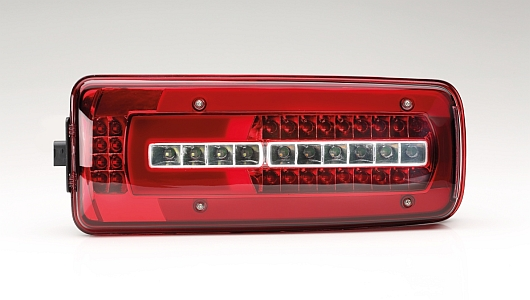 "The new DAF full LED rear combination lamp with ""glowing body"" technology by HELLA"