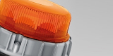 Detail of an innovative beacon for trucks by HELLA