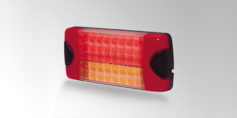 Dura LED Combi rear combination lamp incorporating brake light, taillight and direction indicator, rectangular, from HELLA