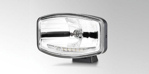 Robust Jumbo 320 high-beam headlamp with LED position light by HELLA