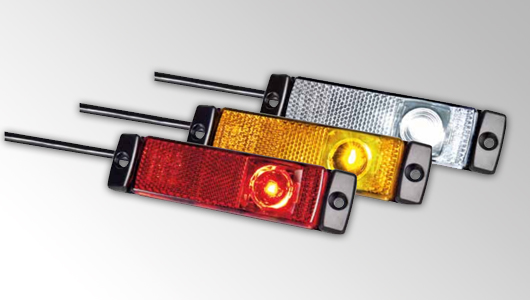 The LED side marker lights by HELLA offer efficient LED technology and precision optics.