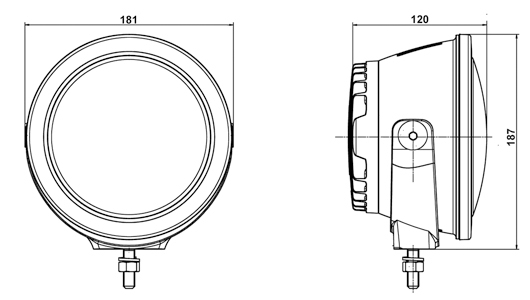 Luminator Compact LED - line drawing
