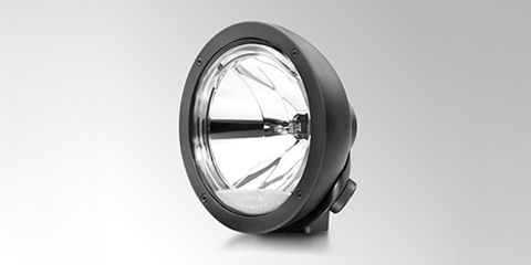 Resilient spotlight Luminator Compact Metal Celis in black from HELLA