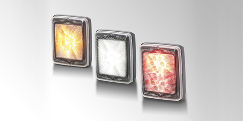Modular LED rear combination lamp series 013 236, rectangular, available in different colors, by HELLA