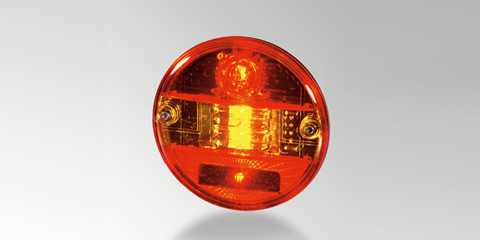 Sturdy tail light, brake light and direction indicator, round, by HELLA
