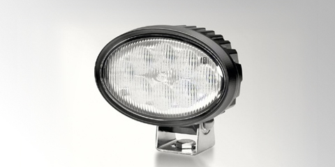 State-of-the-art Oval 100 LED work light, with oval design, by HELLA