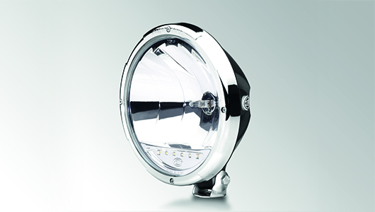 Rallye 3003 with LED position light – chrome design ring