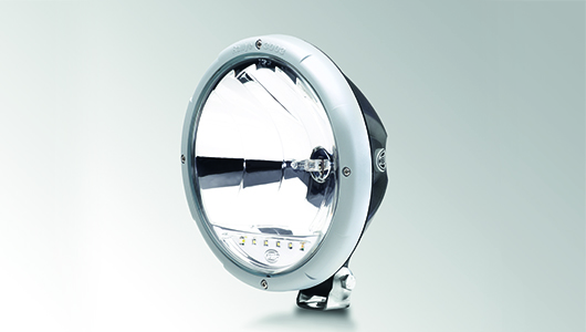 Rallye 3003 with LED position light – silver-gray design ring
